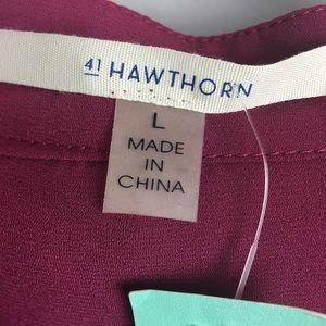 "41 Hawthorn Tops - 41 Hawthorn ""Colibri"" solid tab sleeve blouse"